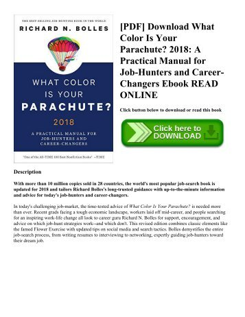 [PDF] Download What Color Is Your Parachute? 2018: A Practical Manual for Job-Hunters and Career-Changers Ebook READ ONLINE