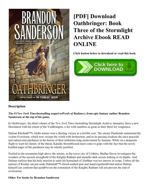 PDF] Download Oathbringer: Book Three of the Stormlight