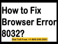 How to Fix Browser Error 8032 Dial 18002402551 (Toll Free)
