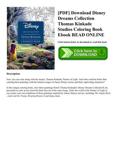 Pdf Download Disney Dreams Collection Thomas Kinkade Studios
