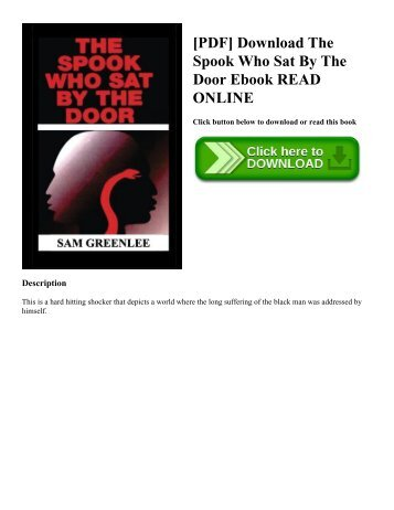[PDF] Download The Spook Who Sat By The Door Ebook READ ONLINE