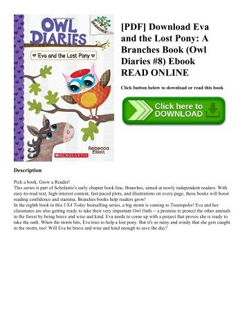 [PDF] Download Eva and the Lost Pony: A Branches Book (Owl Diaries #8) Ebook READ ONLINE