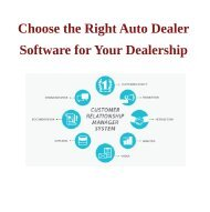 Choose the Right Automobile Sales Software for Your Dealership