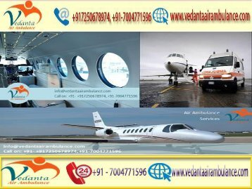 Vedanta Air Ambulance from Bhopal to Delhi provides best medical facility