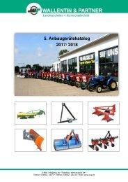 5.Anbaugeräte-Kleintraktor-Katalog