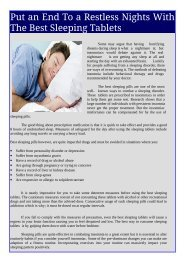 Sleeping Tablets - Cheap & Effective Treatment for Insomnia