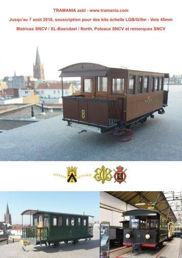 Souscription pour des kits de tramways SNCV - échelle LGB G/IIm - écartement 45mm  TRAMANIA asbl