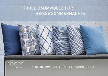 Nielsen Dekokissen Broschüre Frühjahr Sommer 2018