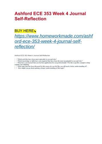 Ashford ECE 353 Week 4 Journal Self-Reflection