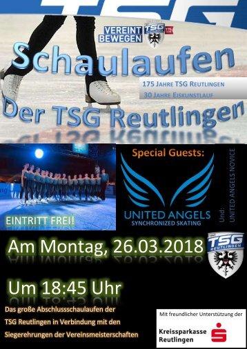 Schaulaufen der TSG Reutlingen 26. März 2018