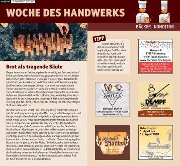 Woche des Handwerks in Füssen: Bäcker