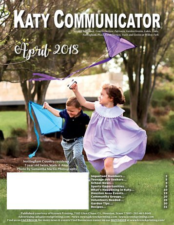 Katy Communicator April 2018