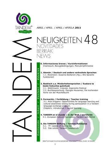 Tandem-Neuigkeiten 48abr11