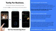 App Tunity4Business onepager