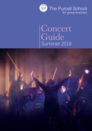 Purcell Concert Guide Summer Term 2018