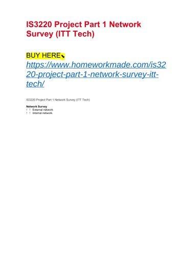 IS3220 Project Part 1 Network Survey (ITT Tech)