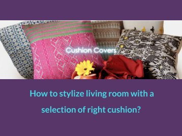 How to stylize living room with a selection of right cushion_