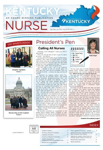 KENTUCKY NURSE - April 2018