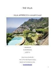 Villa Affresco - Amalfi Coast