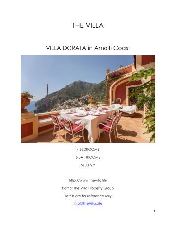 Villa Dorata - Amalfi Coast
