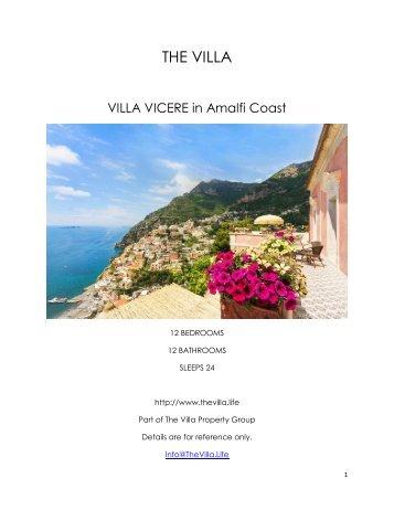 Villa Vicere - Amalfi Coast