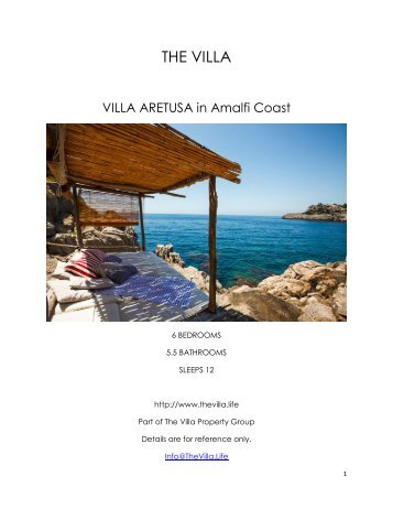 Villa Aretusa - Amalfi Coast