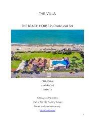 The Beach House - Costa del Sol