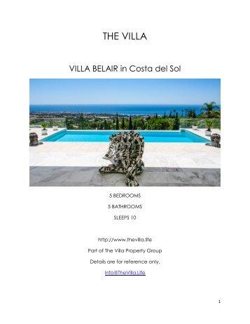 Villa Belair - Costa del Sol