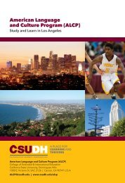 2018 CSUDH American Language & Culture Program Brochure