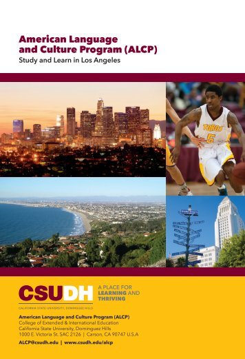 2018 CSUDH American Language & Culture Program Brochure