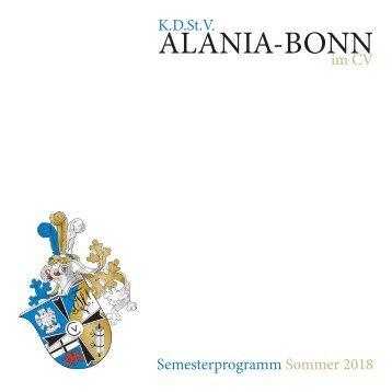 Semesterprogramm Sommer 2018