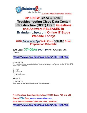 (2018-March-Version)New 300-180 VCE and 300-180 PDF Dumps 374Q Free Share(334-351)