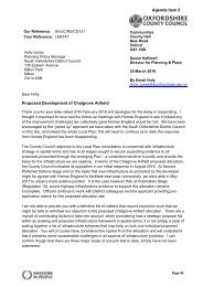 Letter from Oxfordshire County Council