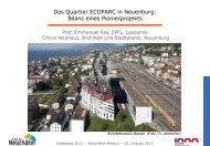 Präsentation von Prof. Emanuel Rey und Olivier Neuhaus