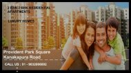 Provident Park Square Homes in Bangalore
