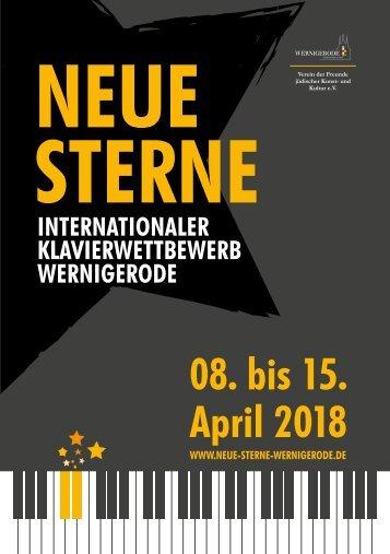 Klavierwettbewerb Neue Sterne Programmheft 2018