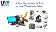 Get the Affordable Annual Maintenance Services in Dubai