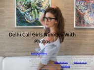 Delhi Call Girls Number With Photos | Book 9312217388