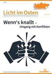 LICHT IM OSTEN_1/2018 Wenn's knallt - Umgang mit Konflikten