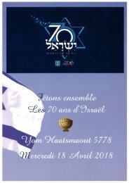 Fêtons ensemble les 70 ans d'Israël