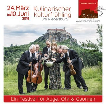 Kulinarischer Kulturfrühling um Riegersburg 2018
