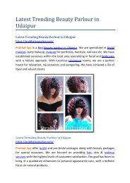 Latest Trending Beauty Parlour in Udaipur