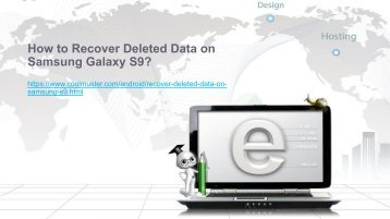 How to Recover Deleted Data on Samsung Galaxy S9