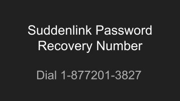 Suddenlink Password Recovery Number