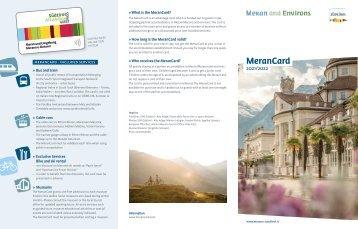 MeranCard 2017/2018 DE