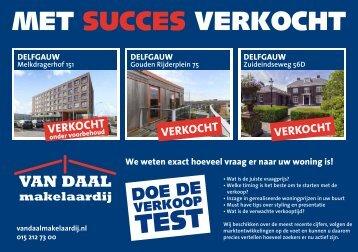 Van Daal makelaardij, succesvol verkocht in Delfgauw!