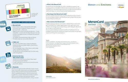 MeranCard 2021/2022 EN