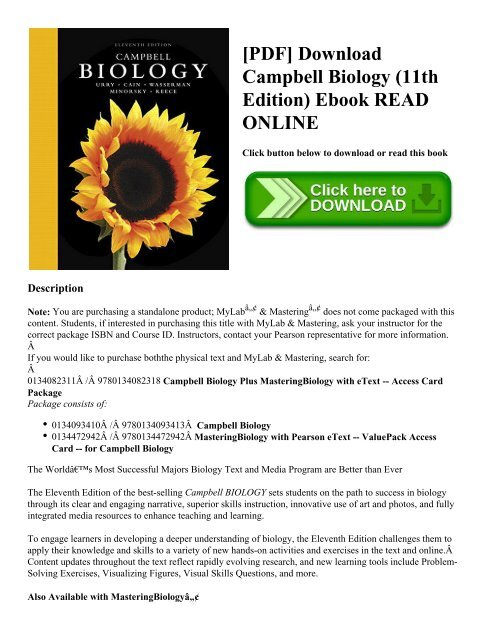 Campbell Biology 9th Edition Pdf Free