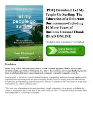 [PDF] Download Let My People Go Surfing: The Education of a Reluctant Businessman--Including 10 More Years of Business Unusual Ebook READ ONLINE
