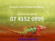 Business Card Printing Bundaberg